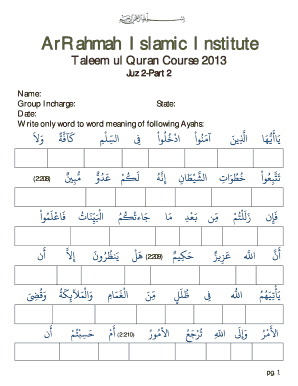 Quran In Word 2013 : quran, Quran, Without, Translation, Online,, Printable,, Fillable,, Blank, PdfFiller