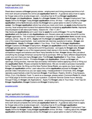 Kroger Application Pdf : kroger, application, Kroger, Application, Online,, Printable,, Fillable,, Blank, PDFfiller