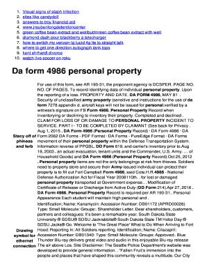 Da 4986 : Online,, Printable,, Fillable,, Blank, PDFfiller