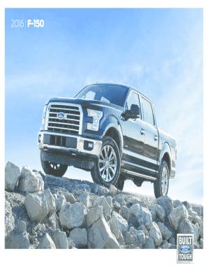 2015 F150 Brochure : brochure, Fillable, Online, F-150, Brochure., Brochure, Email, Print, PDFfiller