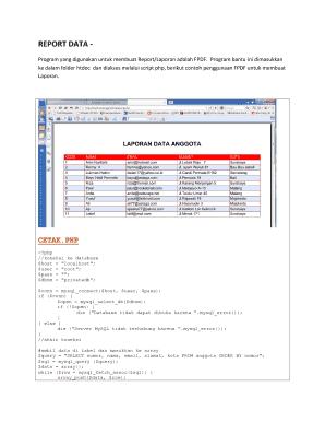 Membuat Laporan Dengan Html2pdf : membuat, laporan, dengan, html2pdf, Fillable, Online, REPORT, Program, Digunakan, Untuk, Membuat, Report/, Laporan, Adalah, Email, Print, PdfFiller