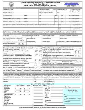 Long Beach Business License : beach, business, license, Fillable, Online, Business, License, Application, Instructions, Beach, Email, Print, PDFfiller