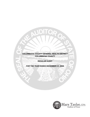 Columbiana County Auditor : columbiana, county, auditor, Fillable, Online, Auditor, State, COLUMBIANA, COUNTY, GENERAL, HEALTH, DISTRICT, Email, Print, PDFfiller
