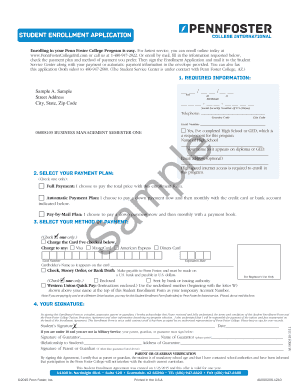 Penn Foster Student Log In : foster, student, Foster, Aggrement, Online,, Printable,, Fillable,, Blank, PDFfiller