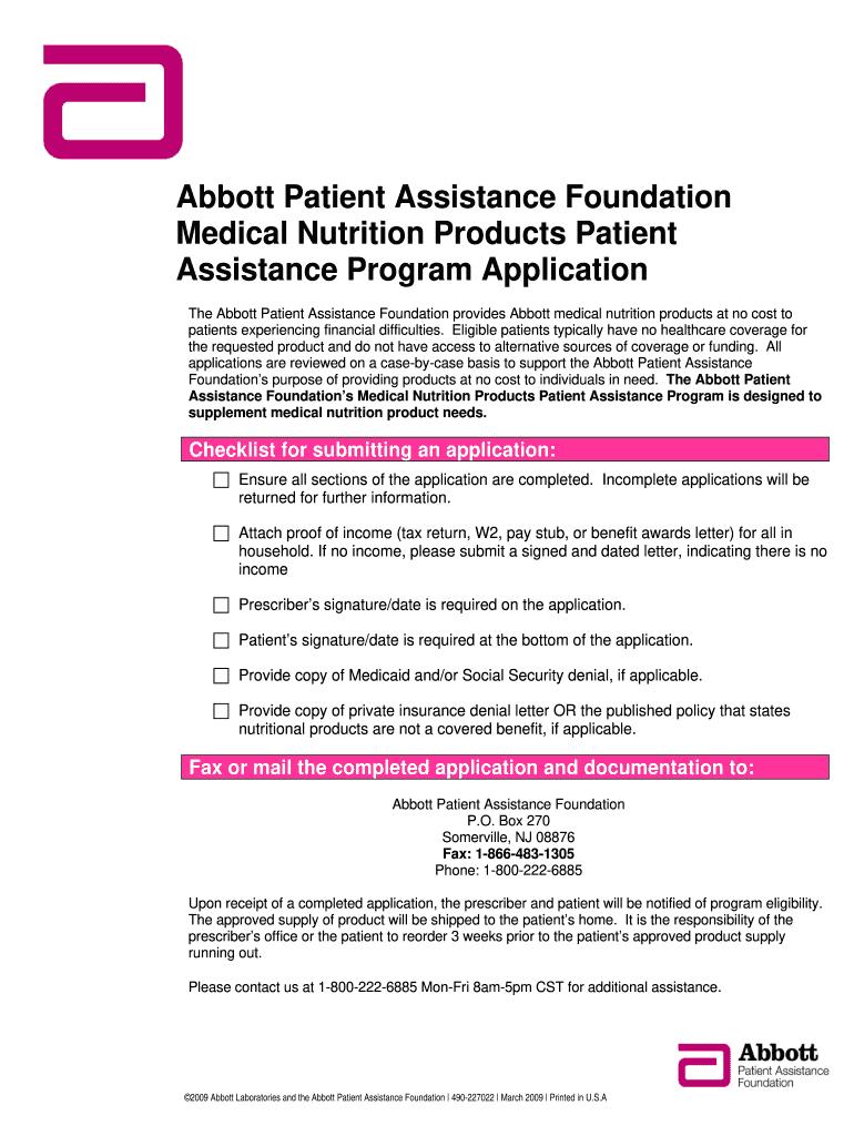 Abbott Patient Assistance Program : abbott, patient, assistance, program, Ensure, Online,, Printable,, Fillable,, Blank, PdfFiller