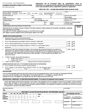 State Examination Employment Application Std Form 678 : state, examination, employment, application, Online,, Printable,, Fillable,, Blank, PdfFiller