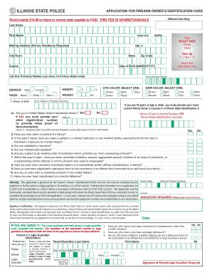 Illinois Foid Card Application Printable : illinois, application, printable, Illinois, Firearms, Owner, Online,, Printable,, Fillable,, Blank, PdfFiller