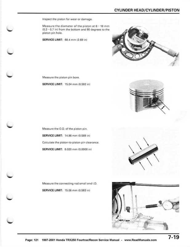 1997-2001 Honda TRX250 Fourtrax Recon Service Manual image
