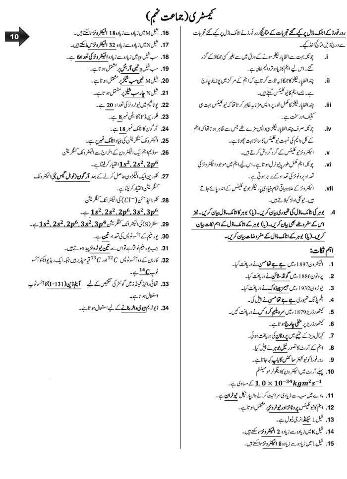 CLASSNOTES: Class 9th Notes Urdu