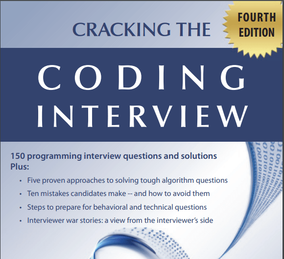 """Download """"Cracking The Coding Interview PDF"""" (2020)."""