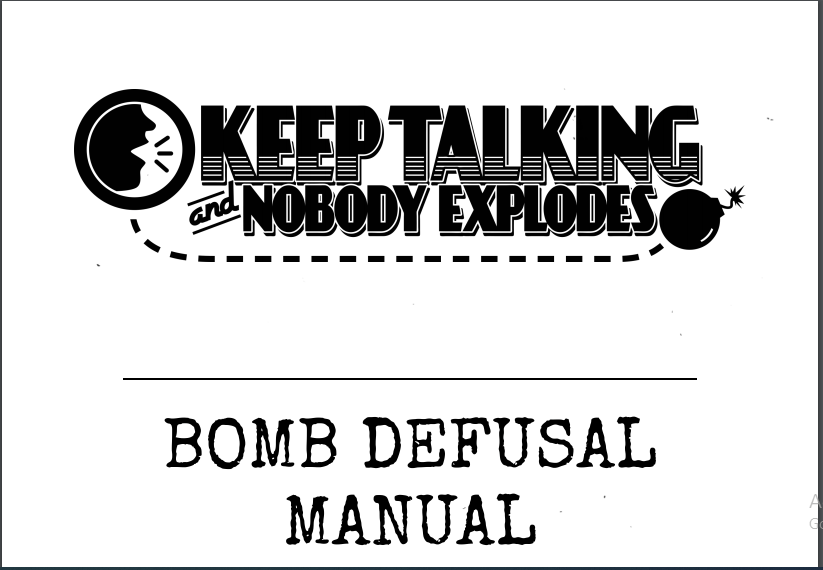 """Download """"Keep Talking And Nobody Explodes PDF"""""""