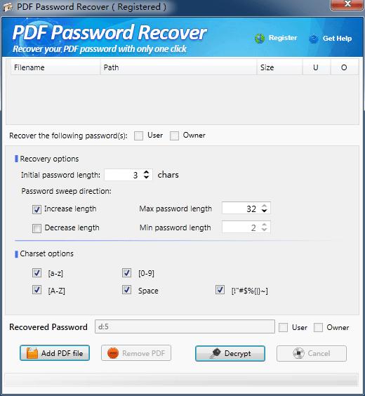 PDF Password Recover