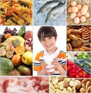 Collage «Menjar bé» amb fotos de FreeDigitalPhotos.net