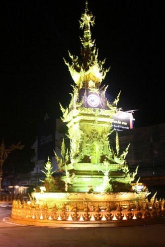 Chiang Rai clock tower light show