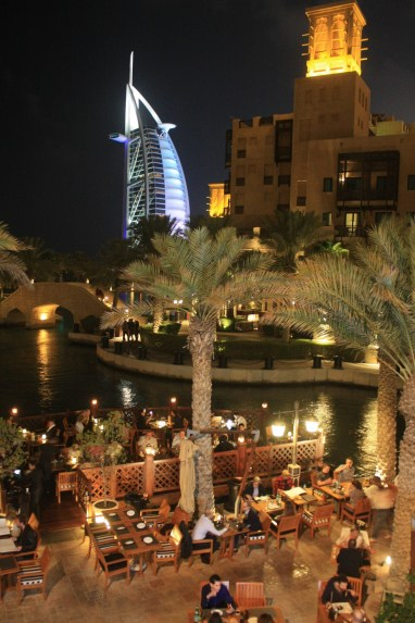 Having dinner in Madinat Jumeirah