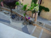A small street in Rousillon, near the main square, taken from above. #miniature #diorama