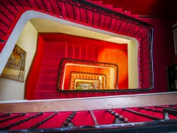 The stairway at the hotel. I lived on the 5th floor - and there was no elevator