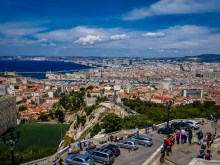 Looking towards Marseille from the bell tower