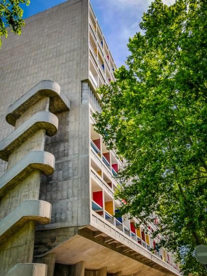 Outisde the famous modernist development by Le Corbusier