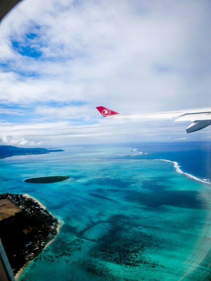 Just after taking off from Mauritius...
