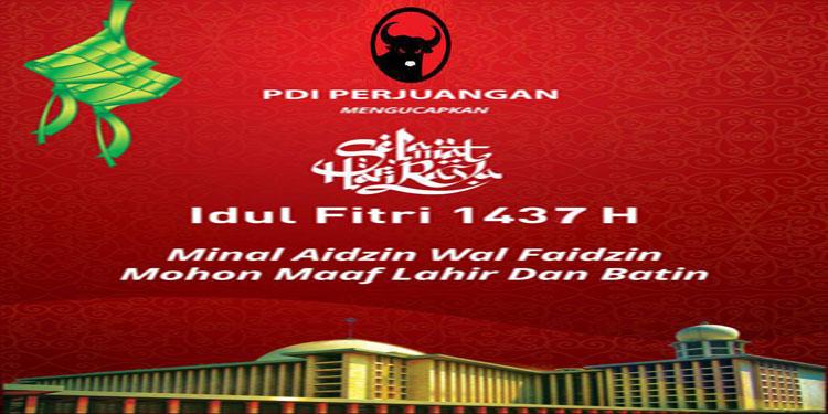 Idul Fitri Momentum Silaturahim Nasional Pdi Perjuangan Jawa Timur