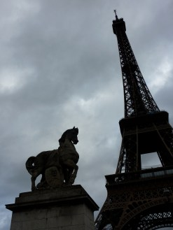 Eiffel Tower with horse