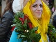 Uni student celebrating, Venice, Italy