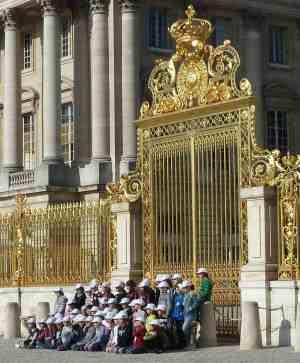 School group, Versailles-France