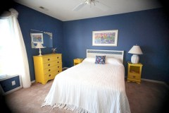 blue bedroom conched out