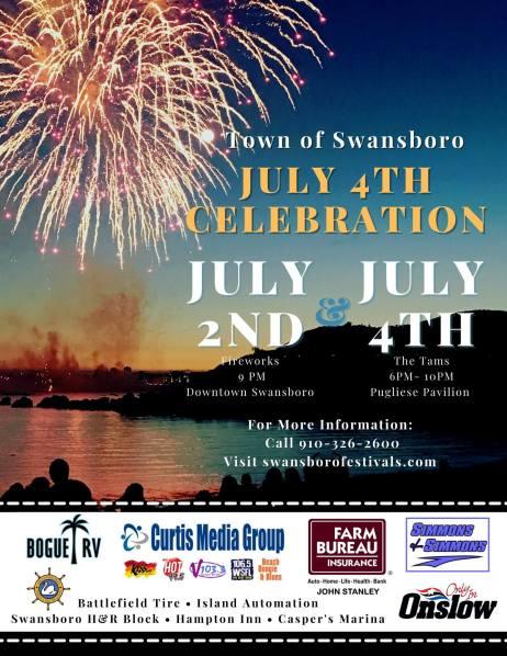 Swansboro 4th of July invitation