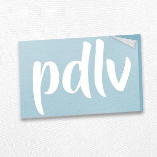 Sticker blanc PDLV STA