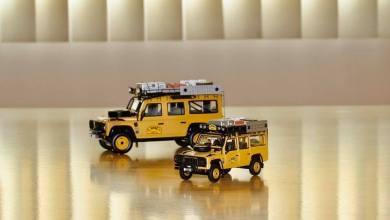 Photo de 1/64 : Mini GT s'attèle au Land Rover Defender du Camel Trophy