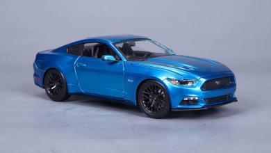 Photo of 1/18 : La Mustang 2015 de Maisto s'habille en Liquid Blue