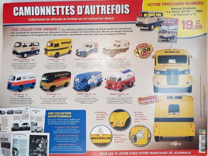 Collection Altaya camionnettes d'autrefois