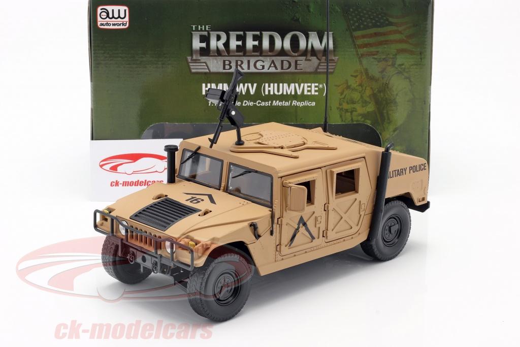 Vue avant du Humvee R2 de Autoworld au 1/18