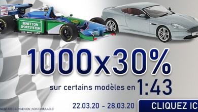 Modelcarworld remise sur 1 000 miniatures au 1/43