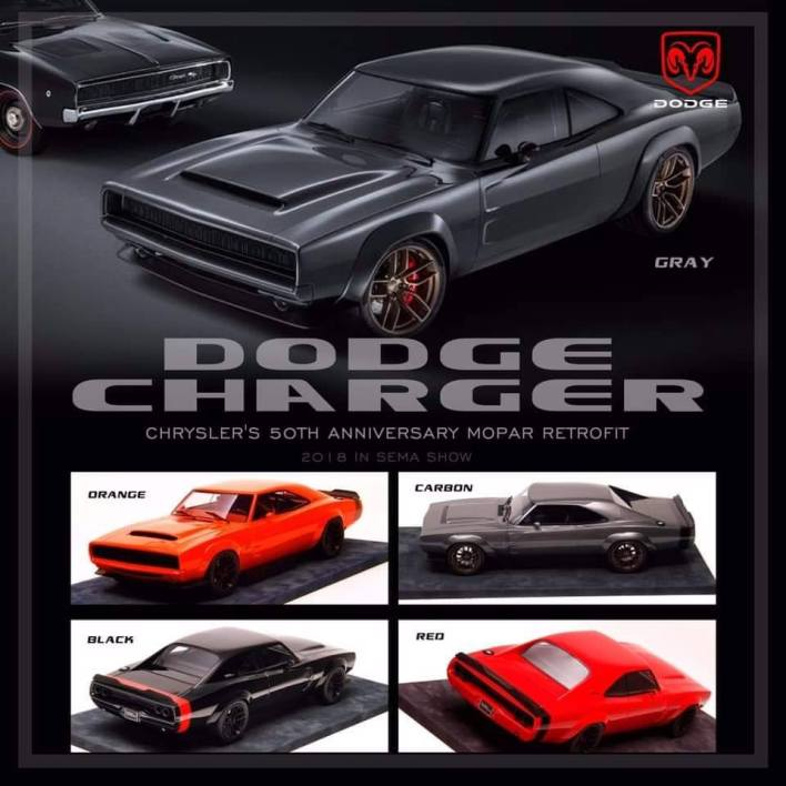 1/18 Dodge Charger Sema Show Engup couleurs