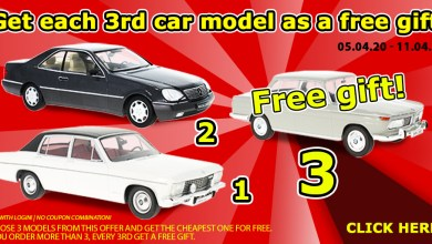 Photo of Modelcarworld : 2 miniatures achetées : 1 offerte en plus