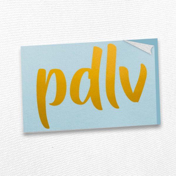 Sticker doré PDLV STE