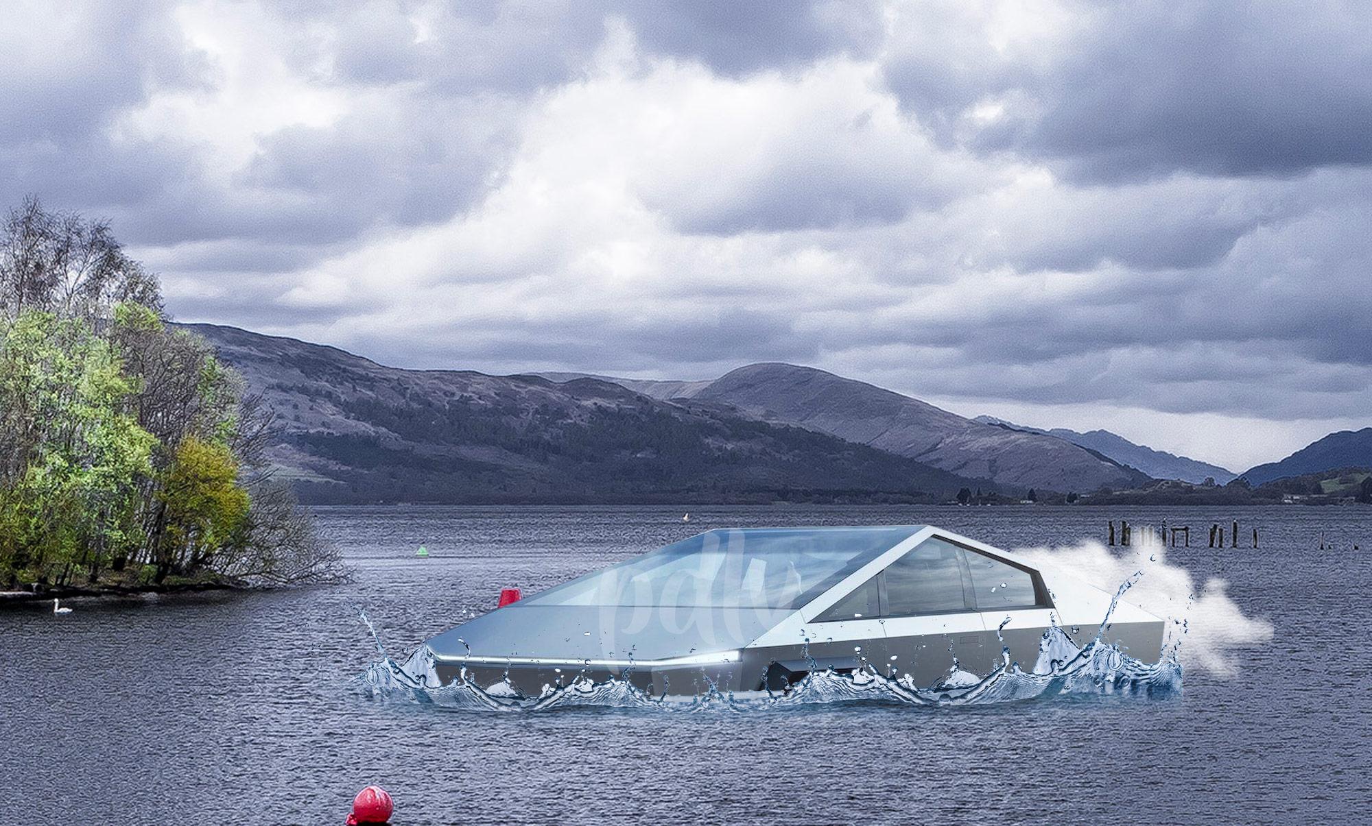 Tesla Cybertruck amphibie