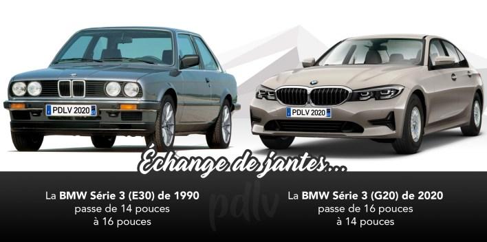 BMW Série 3 échange de jantes