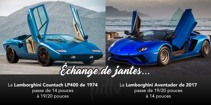 Lamborghini échange de jantes