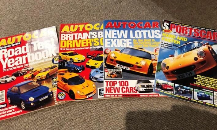 Magazines présentant la Lotus Exige S1