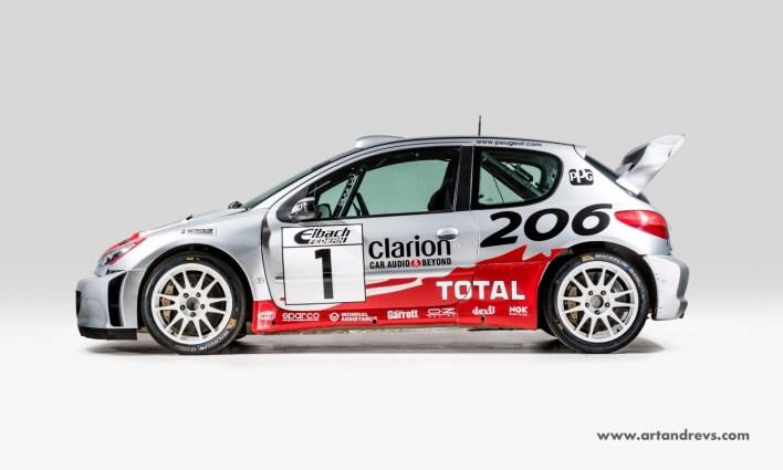 Peugeot 206 WRC profil