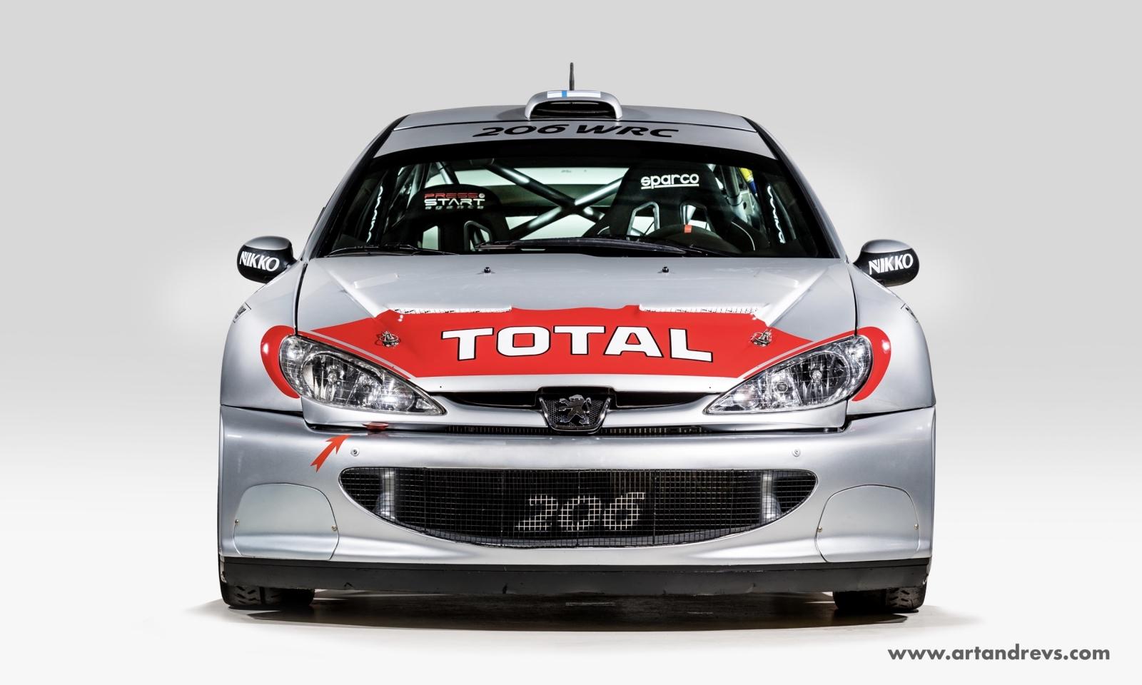 Peugeot 206 WRC avant