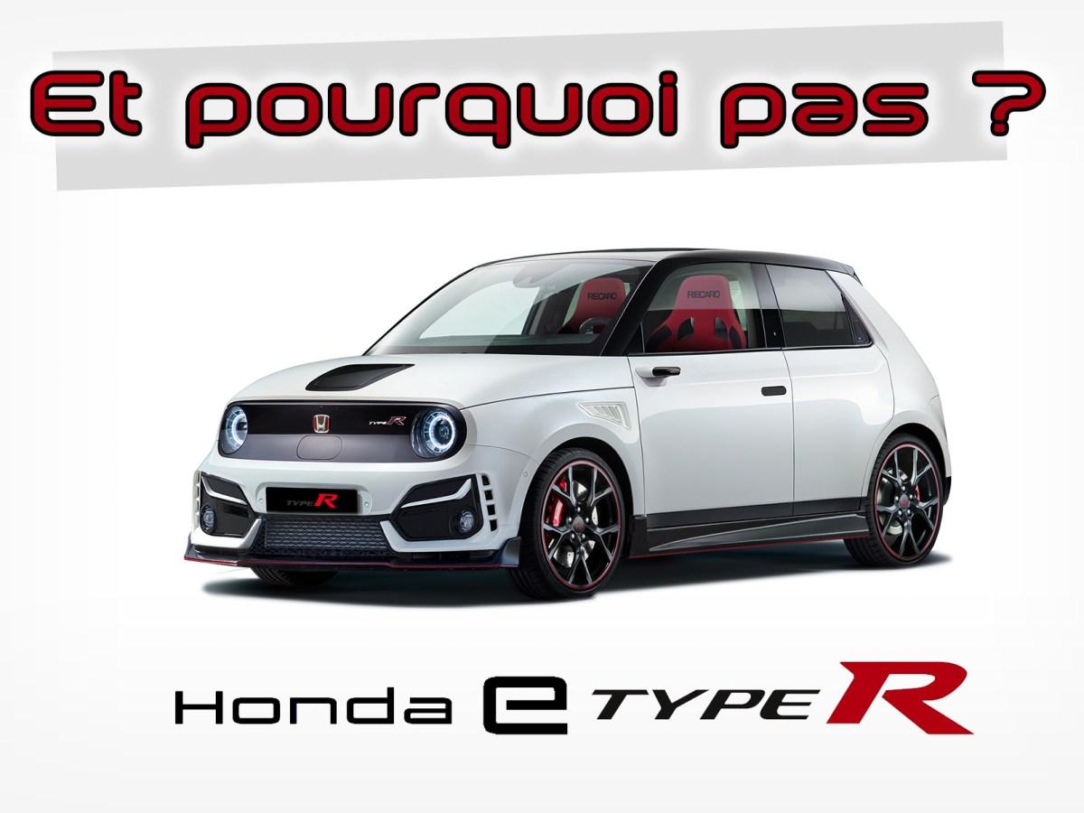 Honda e Type R photomontage