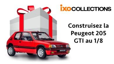 Photo de IXO : Construisez votre Peugeot 205 GTI à l'échelle 1/8