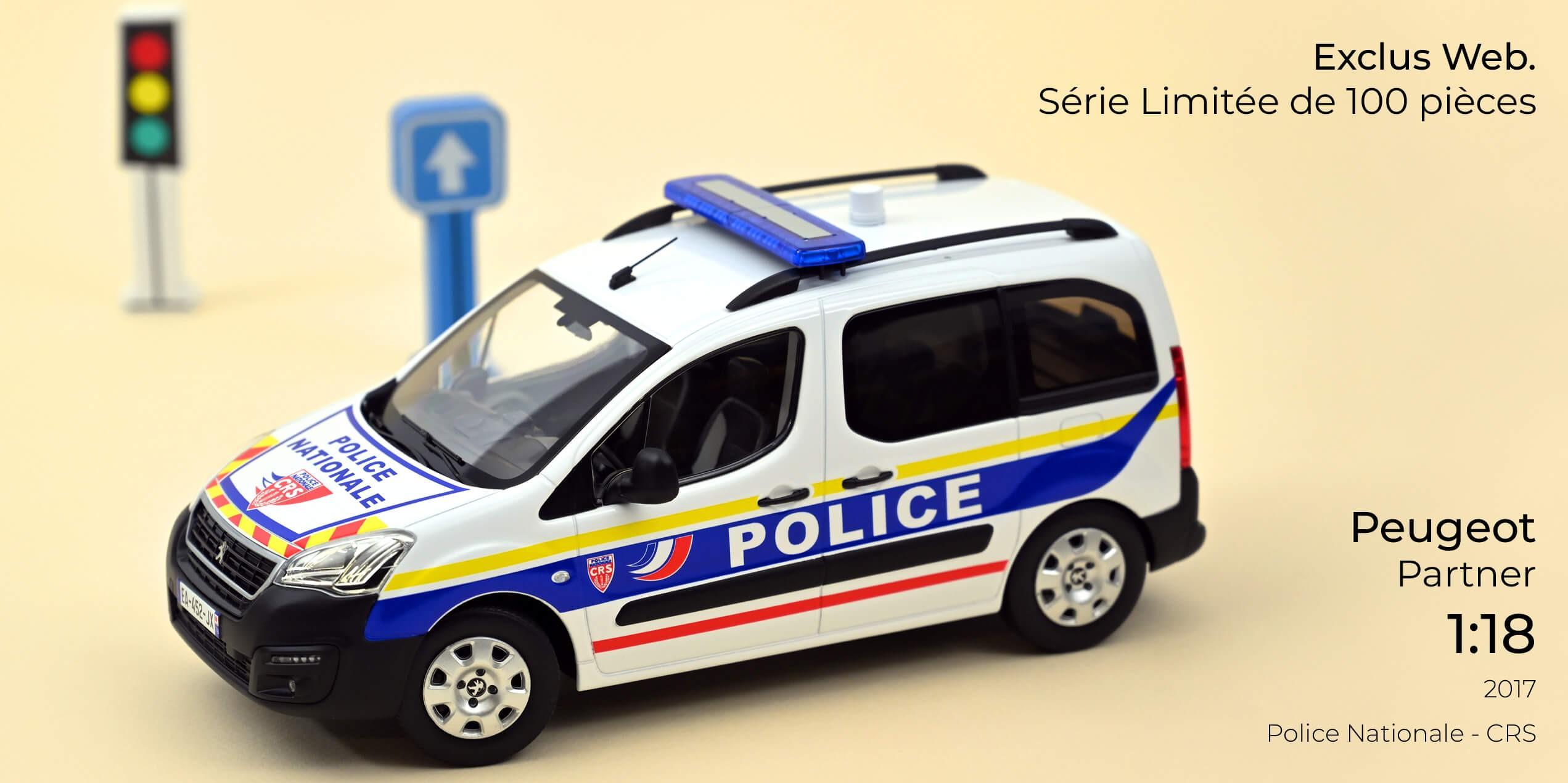 1/18 Peugeot Partner Police Nationale CRS Norev 184892