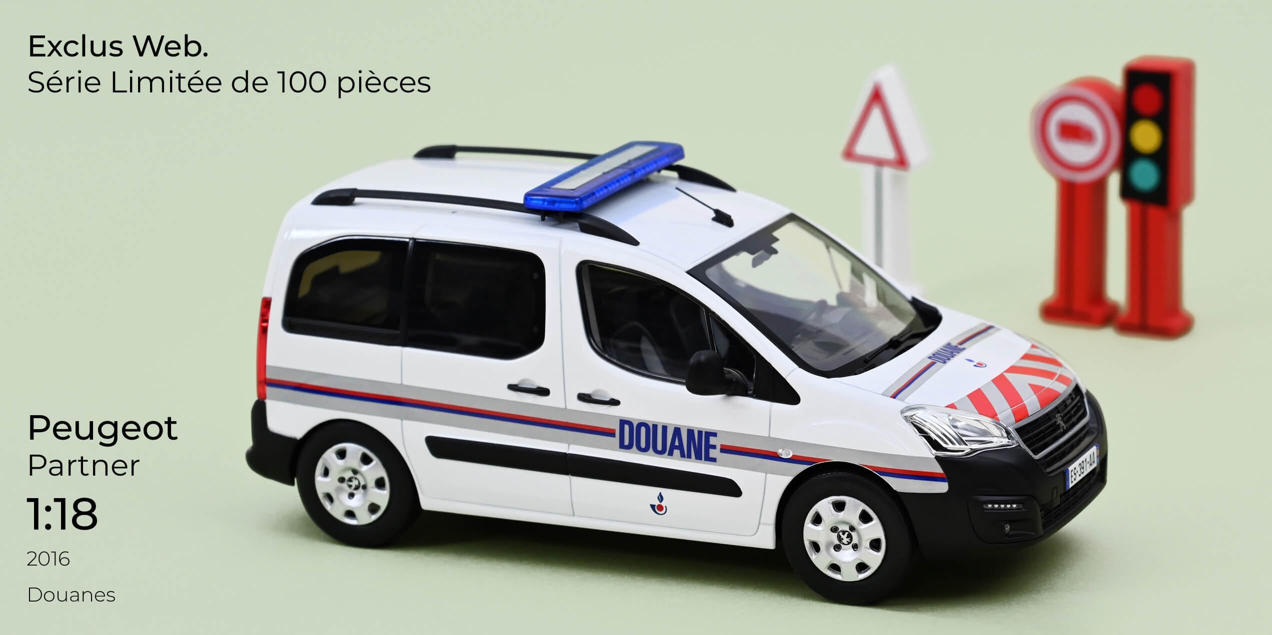 1/18 Peugeot Partner Douanes Norev 184893