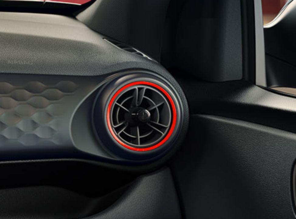 Aération rouge de la Hyundai i10 N Line